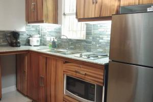 A kitchen or kitchenette at 2 Story Smart Home with Balcony near Dumaguete Airport