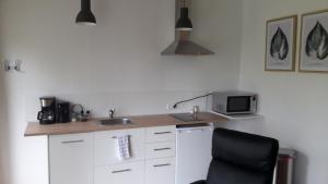 A kitchen or kitchenette at lodderlogies