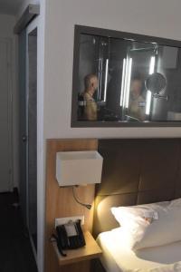 Ein Badezimmer in der Unterkunft Hotel Hamann