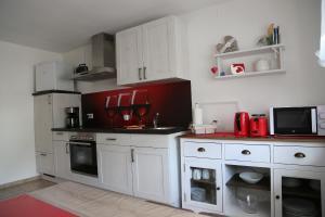 Küche/Küchenzeile in der Unterkunft Ferienwohnung Memmel