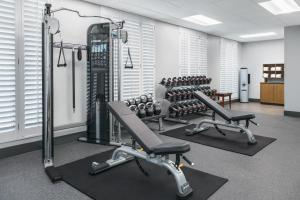 The fitness center and/or fitness facilities at Hampton Inn & Suites Tampa Ybor City Downtown