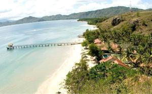 A bird's-eye view of Cocotinos Sekotong Lombok