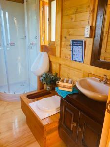 A bathroom at Glamping Los Balcones