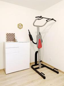 The fitness center and/or fitness facilities at LUXE BUNGALOW,20min PRAGUE CITY CENTR,5min airport