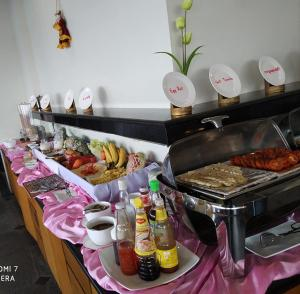 Breakfast options available to guests at Ngwe Moe Hotel