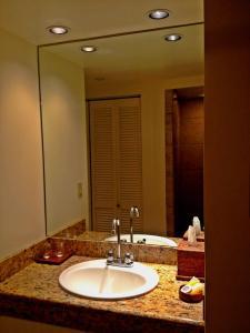 A bathroom at The Equus