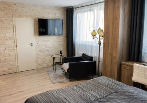 TV a/nebo společenská místnost v ubytování Ubytování Stračena