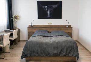 Postel nebo postele na pokoji v ubytování Ubytování Stračena