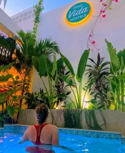 Piscine de l'établissement Bona Vida Hostel La Quinta ou située à proximité