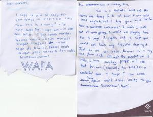 A certificate, award, sign, or other document on display at Wafa Hotel & Apartment