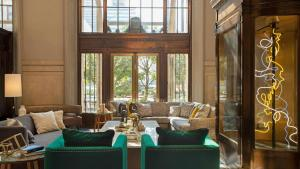 A seating area at The Notary Hotel Autograph Collection