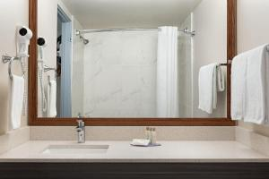 A bathroom at Travelodge by Wyndham Calgary South