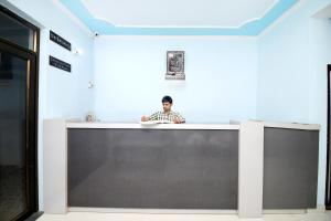 The lobby or reception area at Hotel Aanchal