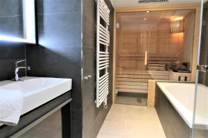 Ein Badezimmer in der Unterkunft Mountain-Apart Simonhof