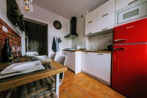 Kuchyň nebo kuchyňský kout v ubytování Apartament Barbara