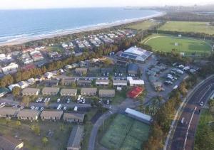 A bird's-eye view of Wollongong Surf Leisure Resort