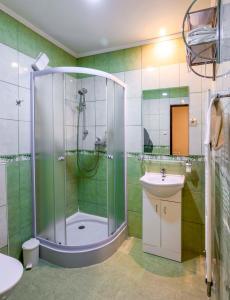 Kúpeľňa v ubytovaní Penzión pod hradom Gelnica