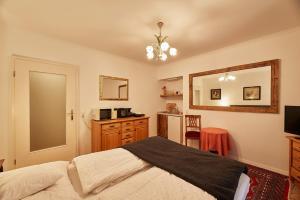 Ein Bett oder Betten in einem Zimmer der Unterkunft Gärtnerhaus Grubhof