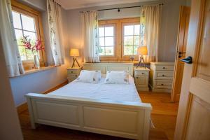 Łóżko lub łóżka w pokoju w obiekcie Villa z widokiem na Giewont