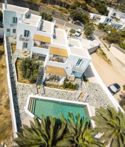 Άποψη από ψηλά του Amphitrite Apartments Skyros