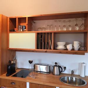 Küche/Küchenzeile in der Unterkunft Chalet Chip In Uttlau
