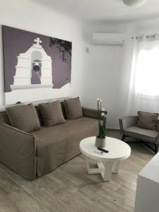 A seating area at Livin Mykonos Hotel