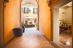 Coin salon dans l'établissement Hotel Cavour