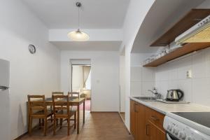 Kuchyň nebo kuchyňský kout v ubytování Pytloun Wellness Travel Hotel