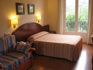 Cama o camas de una habitación en Gurutzeberri