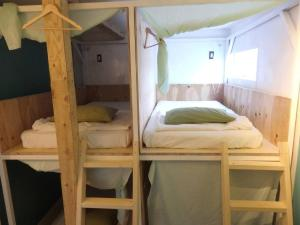 A bunk bed or bunk beds in a room at Igloo Dorm & Breakfast