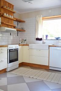 Ett kök eller pentry på Vätternterrassen