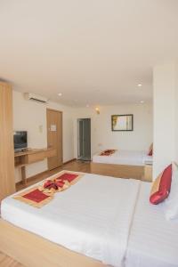 Кровать или кровати в номере Prince Hotel