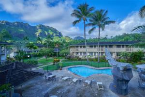 A view of the pool at The Kauai Inn or nearby