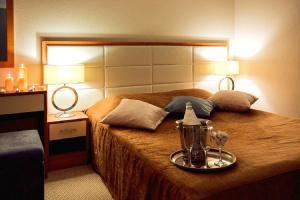 Кровать или кровати в номере Гостиница Полет