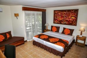 Cama ou camas em um quarto em ROYAL BORA BORA