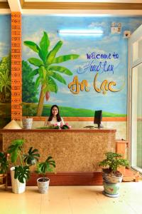 The lobby or reception area at An Lạc Homestay