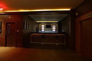 The lobby or reception area at Hotel Samudra