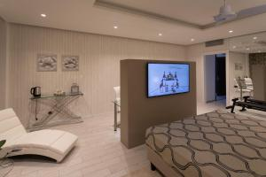 A television and/or entertainment center at Hotel Ariston
