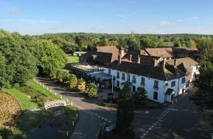 A bird's-eye view of Frensham Pond Country House Hotel & Spa