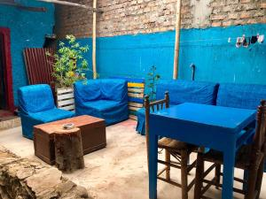 A seating area at Huachuma Guest House