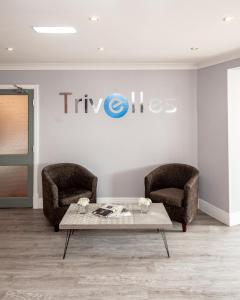 A seating area at Trivelles Seaview Blackpool
