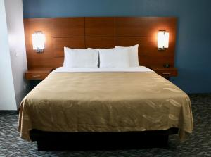 A bed or beds in a room at Quality Inn & Suites Watertown Fort Drum