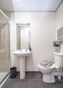 A bathroom at Trivelles Seaview Blackpool
