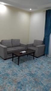 Uma área de estar em Dana Airport Furnished Apartments