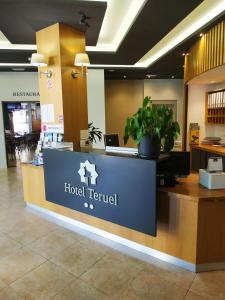 The lobby or reception area at Hotel Teruel