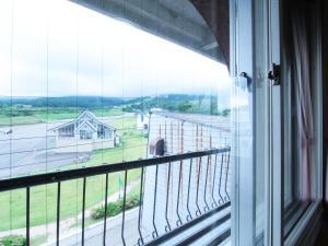 A balcony or terrace at Hotel Moc