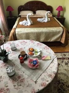 Кровать или кровати в номере ВИП отель