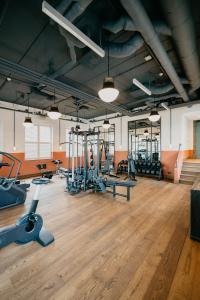 Het fitnesscentrum en/of fitnessfaciliteiten van Hotel BOAT & CO