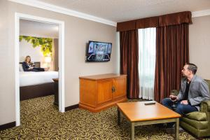 A television and/or entertainment center at Varscona Hotel on Whyte