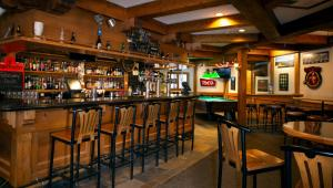 The lounge or bar area at Whistler's Inn